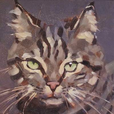 """TABBY"" original fine art by Helen Cooper"