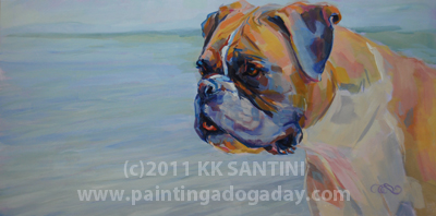 """Ginger"" original fine art by Kimberly Santini"