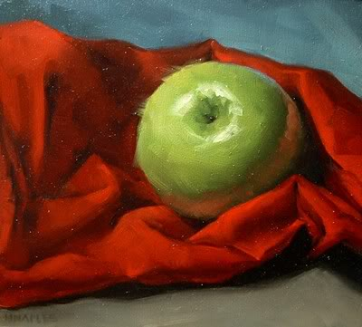 """Wrapped in Red"" original fine art by Michael Naples"