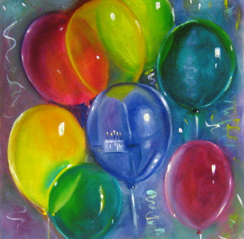 """Happy Birthday Carol!"" original fine art by Linda McCoy"