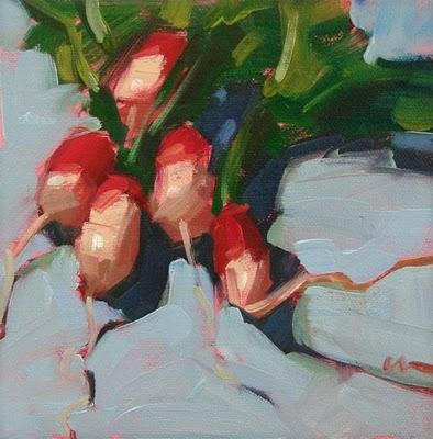"""A Crazy Bunch --- SOLD"" original fine art by Carol Marine"
