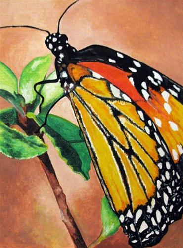 """""""Monarch"""" original fine art by Nan Johnson"""