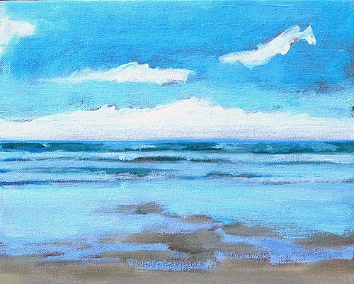 """Blacks Beach Painting"" original fine art by Kevin Inman"