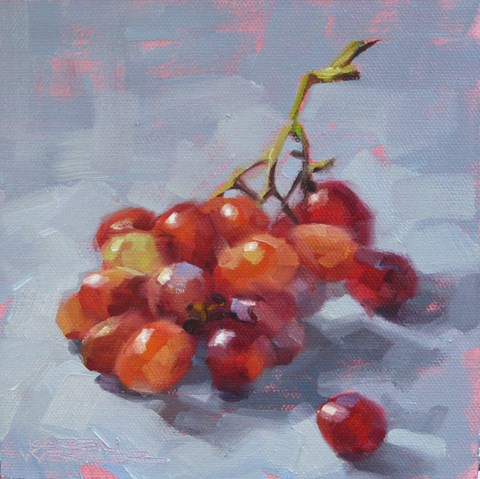 """Rainbow Grapes"" original fine art by Karen Werner"