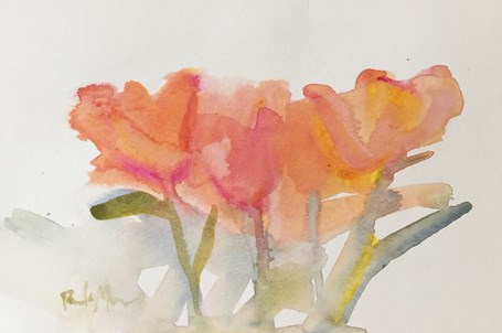 """Tulips"" original fine art by Pamela Munger"