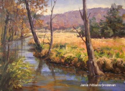 """Spring on the Swamp River"" original fine art by Jamie Williams Grossman"