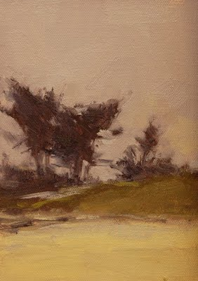 """Foggy Dunes"" original fine art by Laurel Daniel"