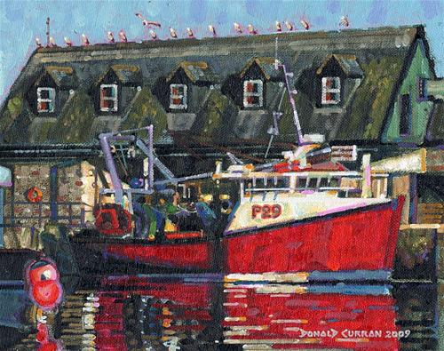 """Fishing Boat"" original fine art by Donald Curran"