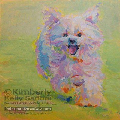 """Introducing Gigi, Your Valentine!"" original fine art by Kimberly Santini"