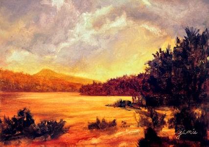 """Sunset Memories"" original fine art by Jamie Williams Grossman"