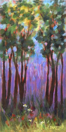 """Deep Forest"" original fine art by Pamela Gatens"