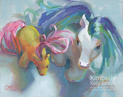 """Conversations II"" original fine art by Kimberly Santini"