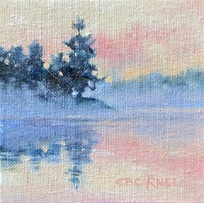 """SOLD MORNING MIST An Original Oil Painting by Claire Beadon Carnell"" original fine art by Claire Beadon Carnell"