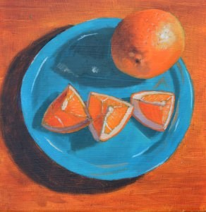 """Blue Plate Special"" original fine art by Robert Frankis"