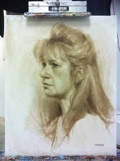 """""""Lorrie"""" original fine art by Michael Naples"""