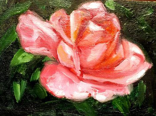"""Chinese rose,U11"" original fine art by Run-      Zhang Zane"