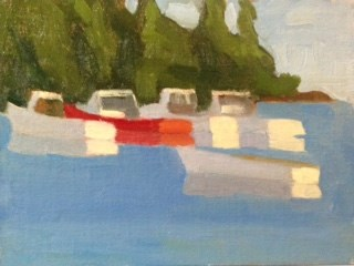 """Owls Head Harbor"" original fine art by Bobbi Heath"