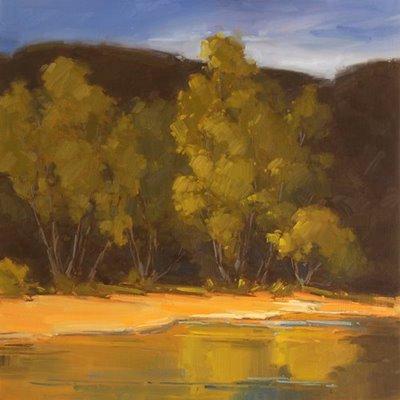 """""""Morning At Bull Creek"""" original fine art by Laurel Daniel"""