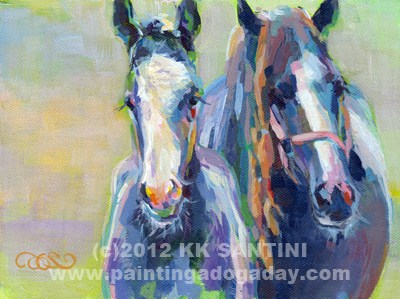 """Like Her Momma"" original fine art by Kimberly Santini"