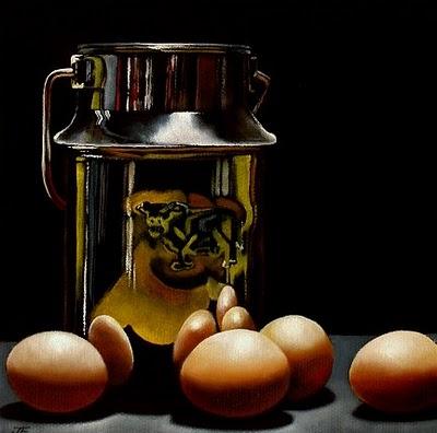 """Milk & Eggs"" original fine art by Jelaine Faunce"