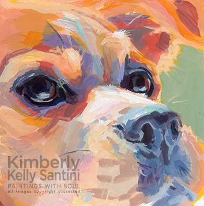 """Mel"" original fine art by Kimberly Santini"