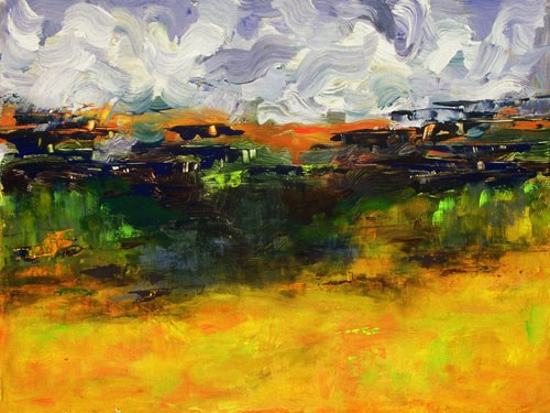 """High Plains II Original Palette Knife Landscape Painting by Colorado Impressionism Artist Judith B"" original fine art by Judith Babcock"