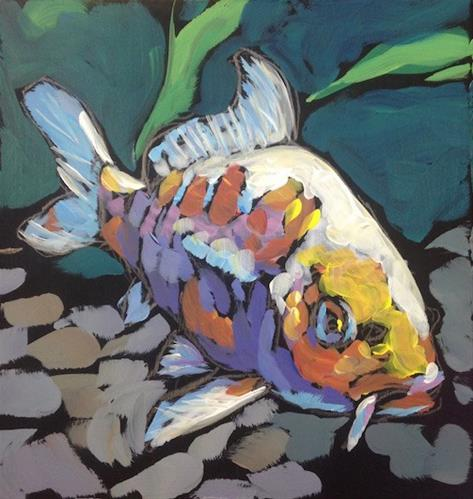 """Monica's Fish, March 2"" original fine art by Kat Corrigan"