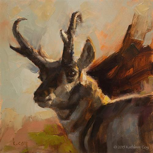 """""""It's Good to be King"""" original fine art by Kathleen Coy"""