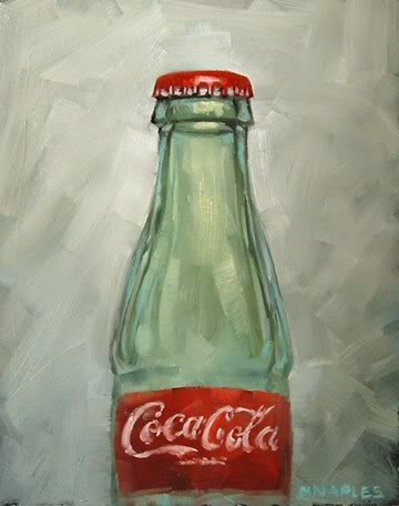 """Coke Bottle"" original fine art by Michael Naples"