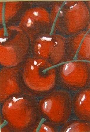 """Cherries"" original fine art by Amy VanGaasbeck"