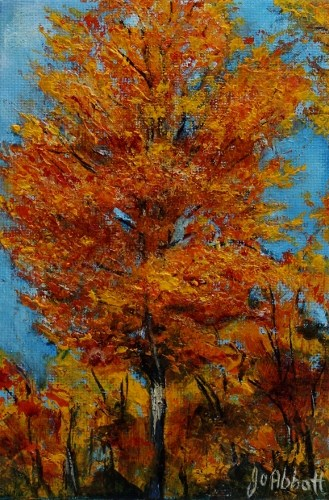 """Autumn Foliage"" original fine art by Joanne Abbott"