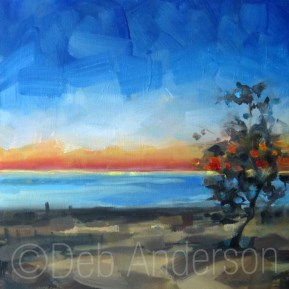 """Oil Painting: Warren Dunes Sunset"" original fine art by Deb Anderson"