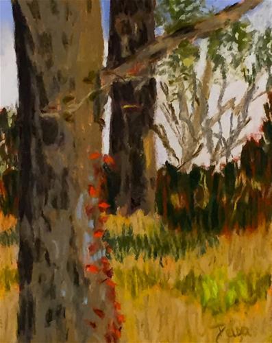 """""""Red Vine"""" original fine art by Reisa Peters"""