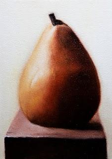 """Pear"" original fine art by Jonathan Aller"