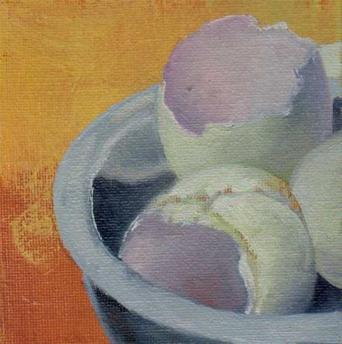 """cracked eggs"" original fine art by Vova DeBak"