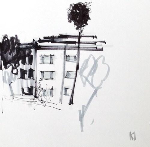 """Sketch in Golden Hill"" original fine art by Kevin Inman"