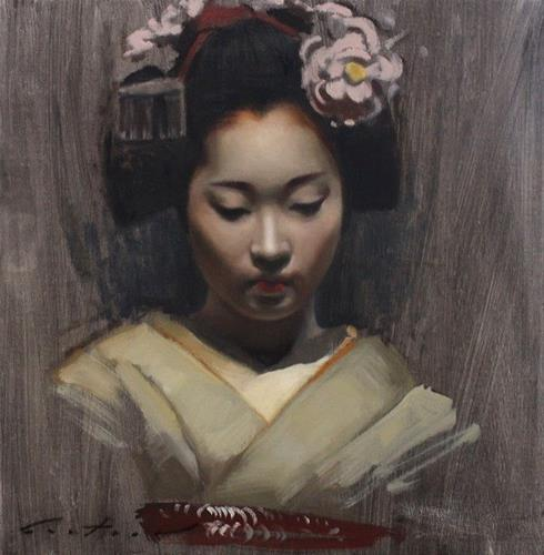 """Maiko Chizu Study"" original fine art by Phil Couture"