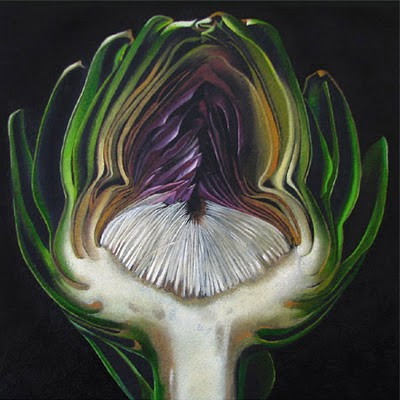 """Artichoke No. 1   6x6"" original fine art by M Collier"