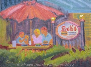 """Bub's Burgers & Ice Cream"" original fine art by Shawn Deitch"