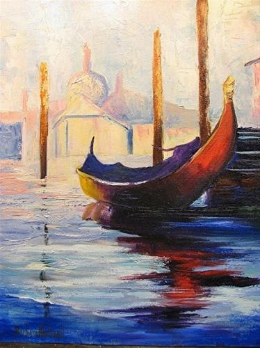 """Monet's Gondola"" original fine art by Barbara Haviland"