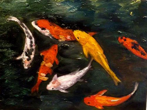"""FISH,M31"" original fine art by Run-      Zhang Zane"