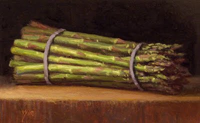 """""""Asparagus in Morning Light (+ exhibition)"""" original fine art by Abbey Ryan"""