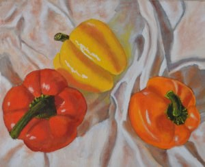 """A Trio of Peppers"" original fine art by Robert Frankis"