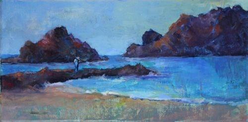 Carmel Meditation Seascape Paintings by Arizona Artist Amy Whitehouse original fine art by Amy Whitehouse