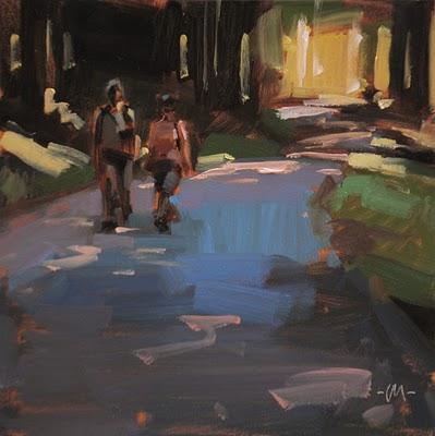 """Take a Hike"" original fine art by Carol Marine"
