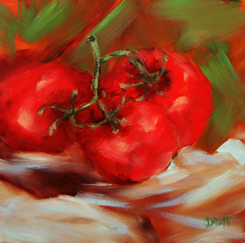 """Tomatoes On The Vine"" original fine art by Dalan Wells"