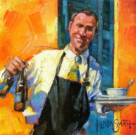 A Smile & a Bud original fine art by Linda K Smith