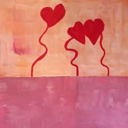"""Love In The Air"" original fine art by Janet Bludau"