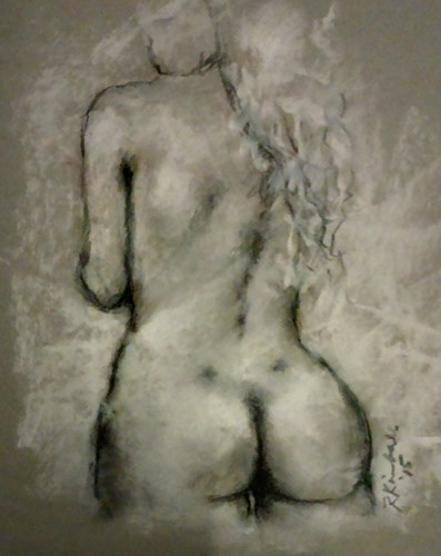 """Figure Drawing no. 61"" original fine art by Bob Kimball"