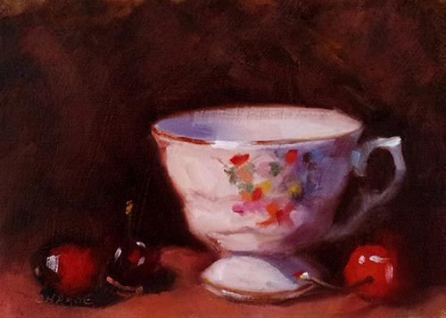 """Vintage Teacup"" original fine art by Cindy Haase"